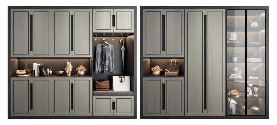 新中式鞋柜 装饰柜组合