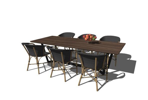 现代户外休闲桌椅组合