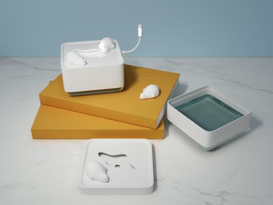 现代北极熊桌面加湿器