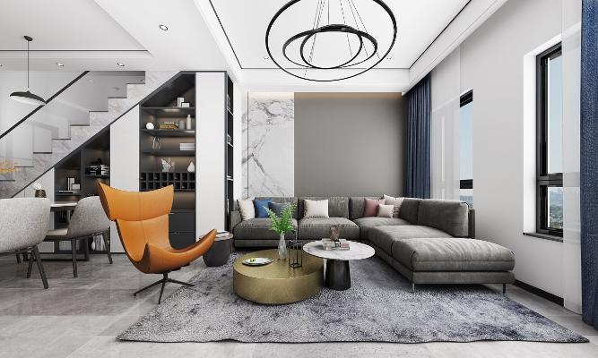 现代Loft公寓客餐厅