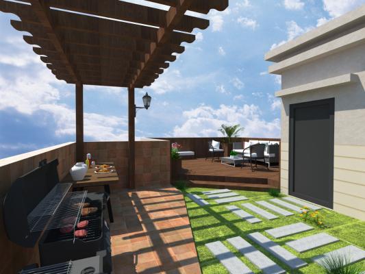 现代风格别墅露台