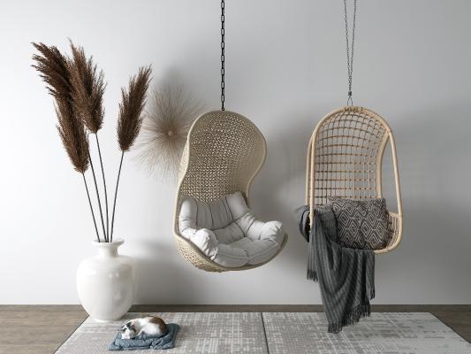 东南亚吊椅 盆栽