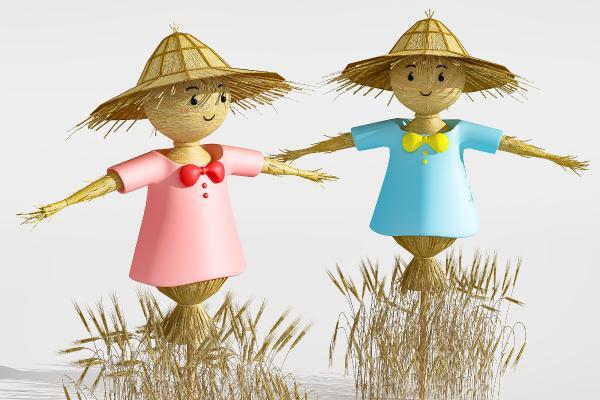 现代稻草人