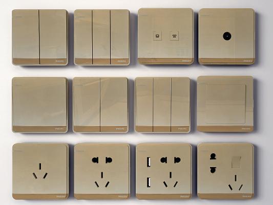 现代开关面板插座