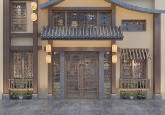 中式餐馆门头门面