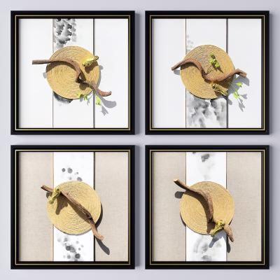 新中式挂画 植物画 花鸟画