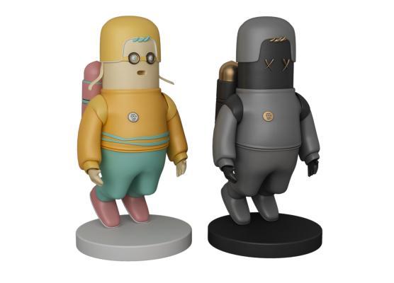 现代香肠人雕塑摆件