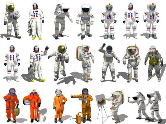现代宇航员 航天员 人物