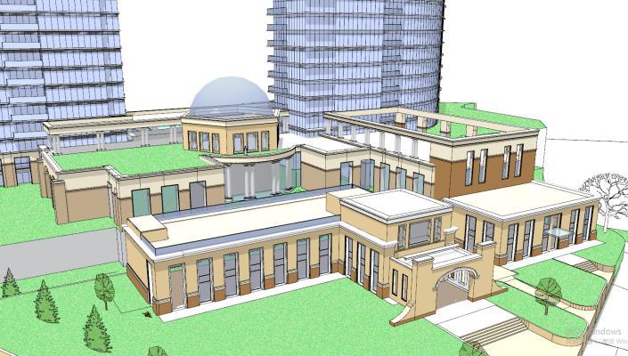 现代幼儿园学校教学楼建筑