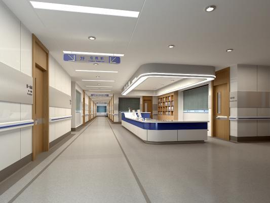现代医院过道