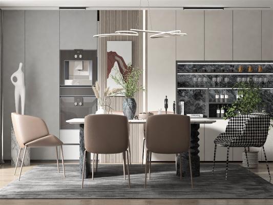 現代風格餐廳 餐桌椅組合