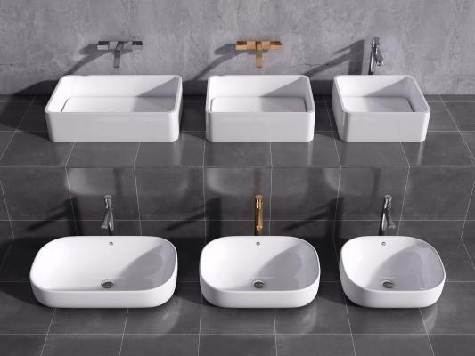 現代洗手臺盆