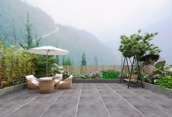 现代花园露台