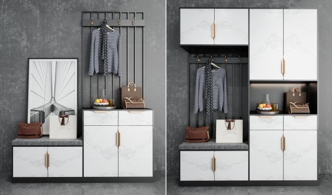 现代轻奢鞋柜组合