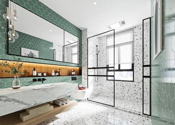 现代卫浴间 卫生间 洗浴用品