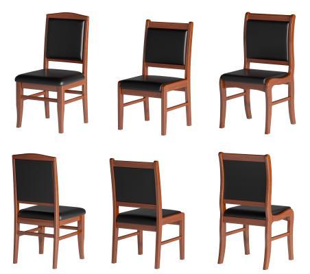现代实木办公椅 会议椅 洽谈椅