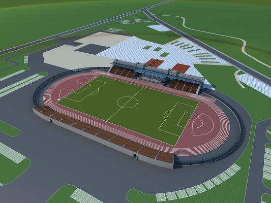 现代足球场 看台