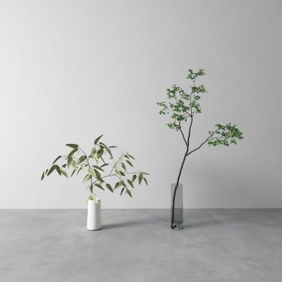 现代花瓶 盆栽 插花