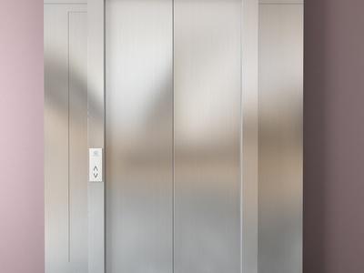 现代金属电梯门