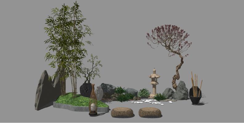 新中式风格园艺雕塑小品