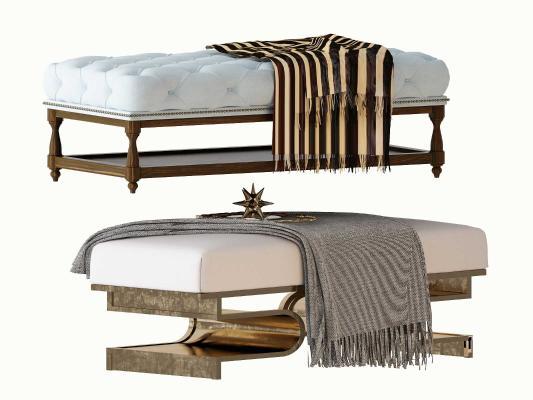 美式沙发凳