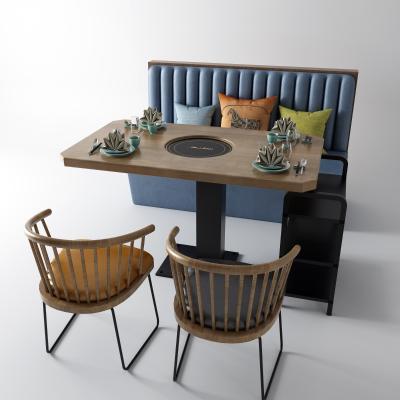新中式餐桌椅 卡座