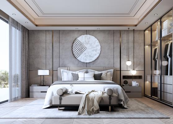 现代风格家居主卧室