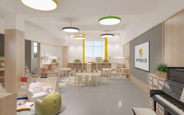 现代幼儿园 活动室 儿童玩具