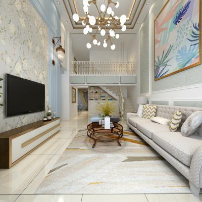 美式复式客厅