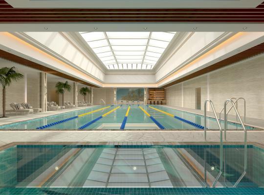 现代室内游泳池游泳馆
