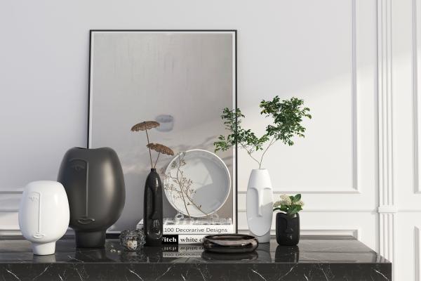现代花瓶 饰品摆件组合