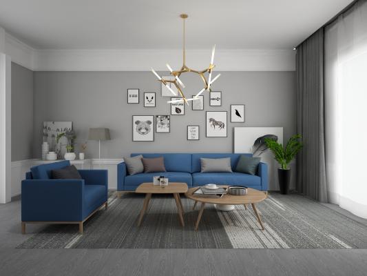 现代家居客厅 沙发组合
