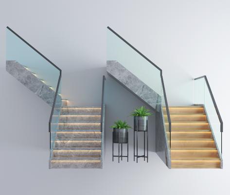 现代扶手楼梯