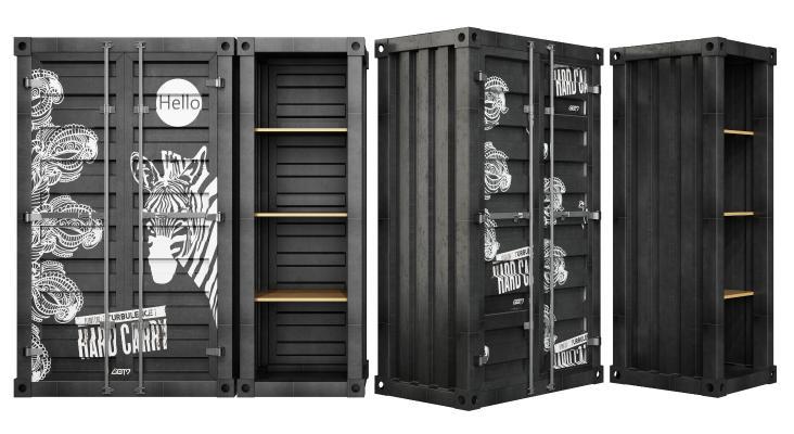 现代装饰柜架 铁柜