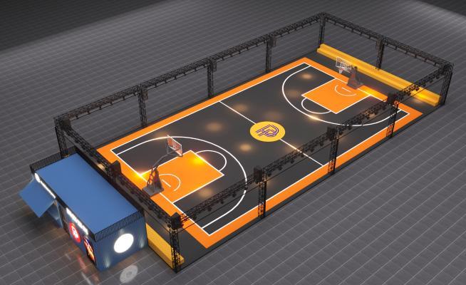 现代风格篮球场 电玩城 快闪店