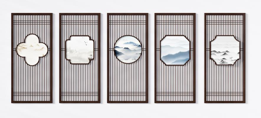 新中式花格 屏风隔断