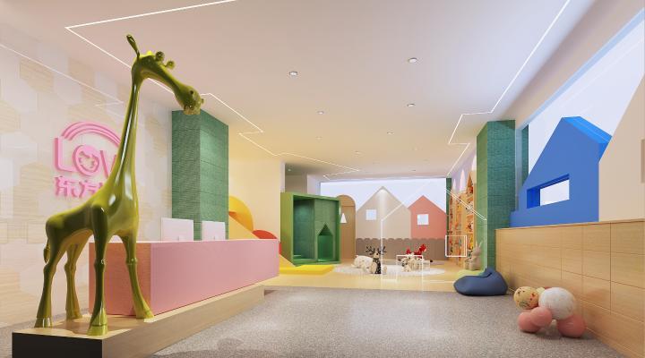 现代幼儿园 前台接待 儿童活动中心