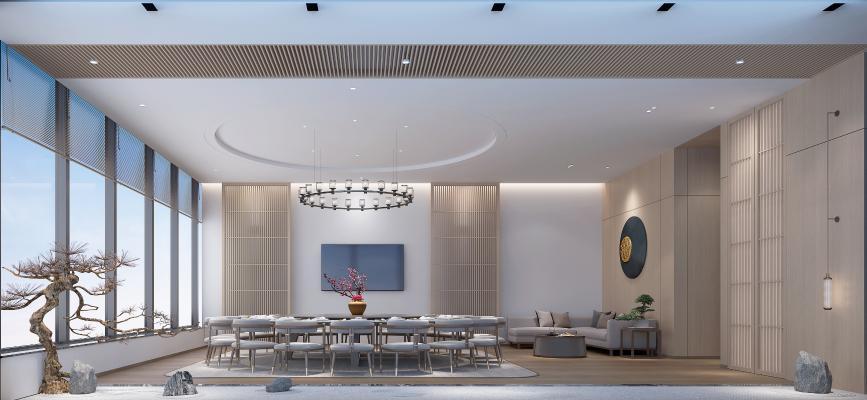 新中式餐厅包厢 包房 吊灯