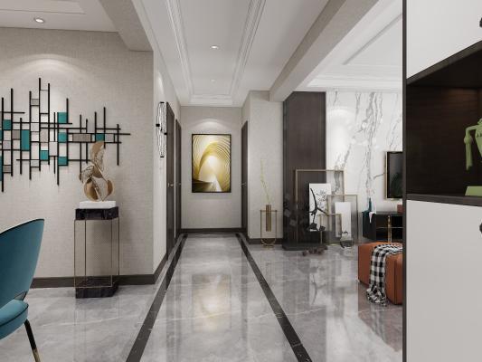 新中式客廳 玄關 門廳柜 鞋柜