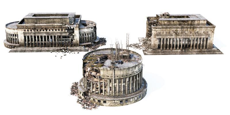 现代建筑残骸