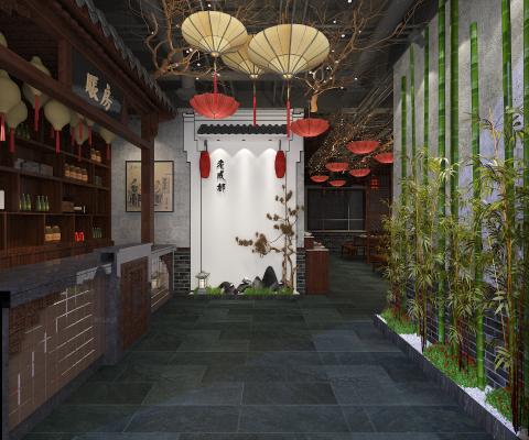 中式火�店