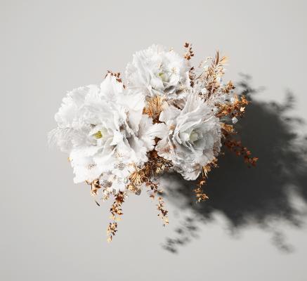 现代植物花卉 花艺墙 美陈装饰