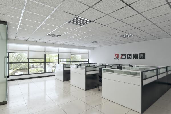 现代简约员工办公区开放式开敞式办公区