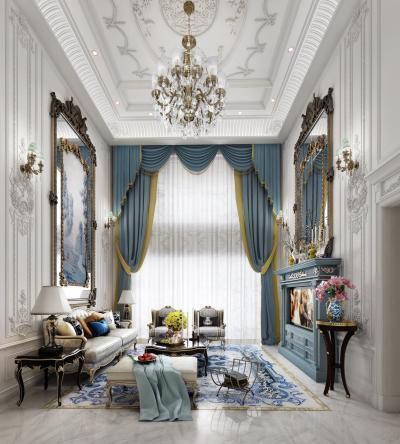 法式风格别墅客厅