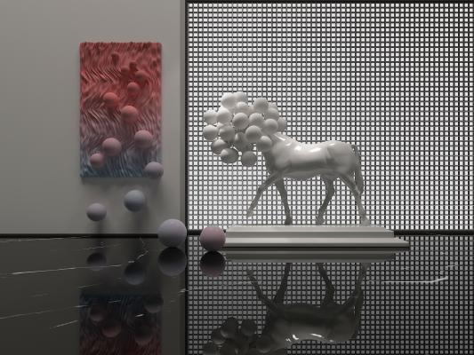 现代网红骏马装饰雕塑