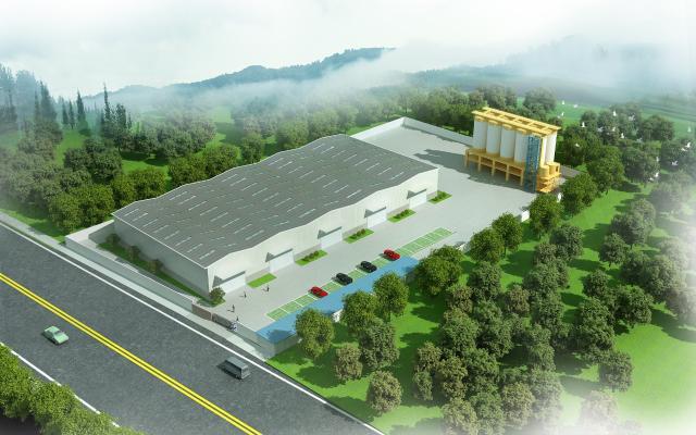 现代厂房工业园