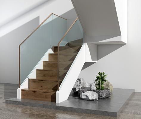 现代楼梯 山水景观