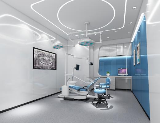 现代口腔医院 挂画 手术台