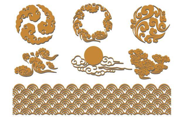 中式雕花 浮雕