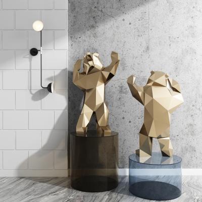 现代雕塑 壁灯